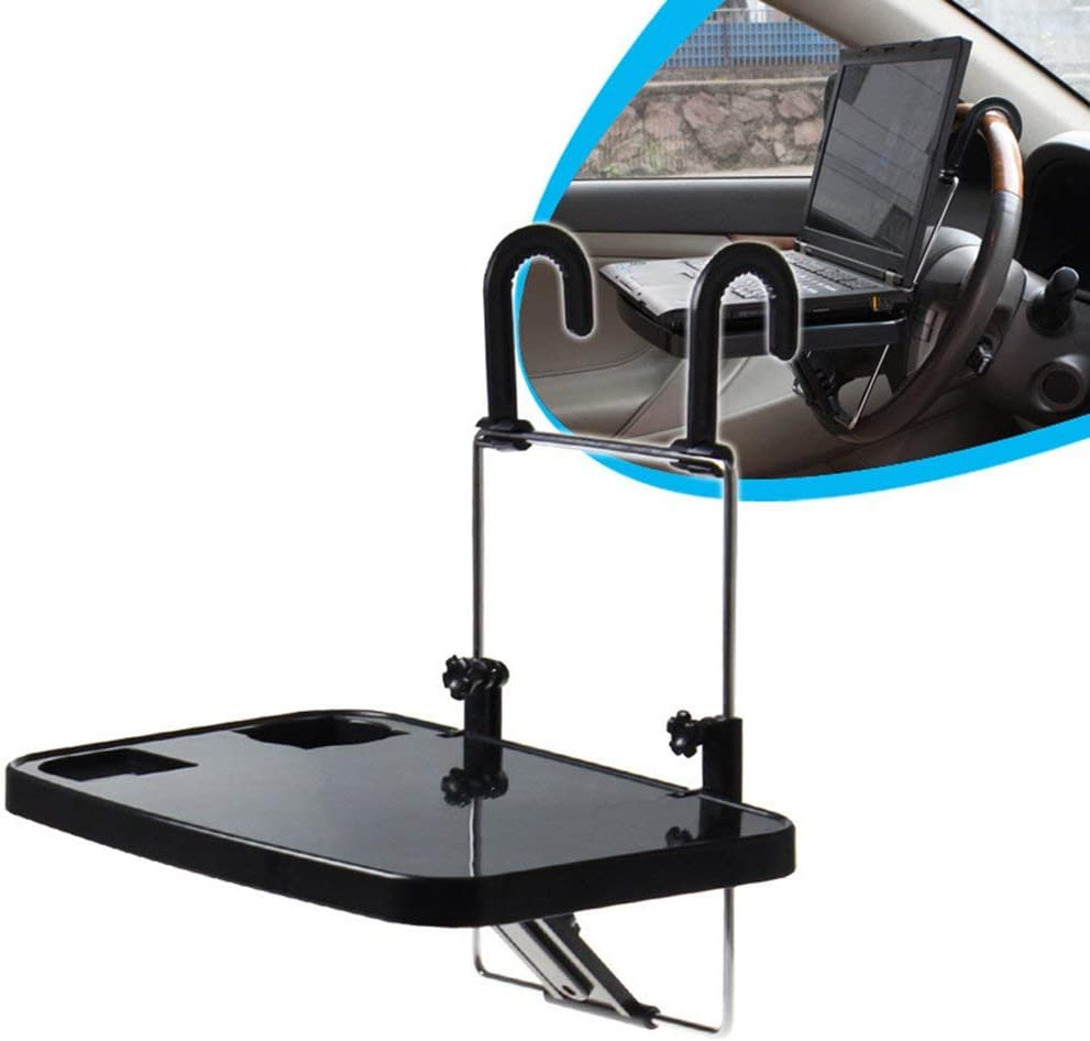 Leoboone Multifunction Car Vehicle Seat Foldable Car Seat Back PC Mount Tray Table Laptop Notebook Desk Table Car Drink Cup Holder