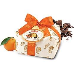 Albertengo Panettone Italian Holiday Cake, Orange and Chocolate, 2.2 Pound