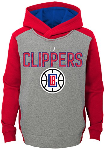 NBA Kids & Youth Boys 'Fadeaway' Pullover Hoodie Los Angeles Clippers-Grey Heather-M(10-12)