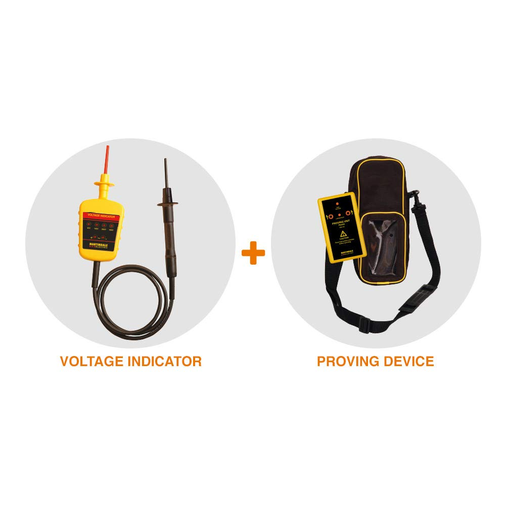 /amarillo Martindale vipd138/Indicador de voltaje y Kit de unidad de comprobaci/ón el/éctrica/