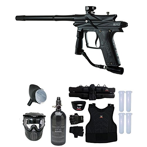 MAddog Azodin Blitz 3 Starter Protective HPA Paintball Gun Package - - Harness 4+3 Zephyr Sports