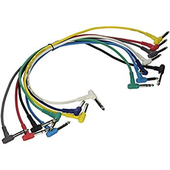 Amazon.com: Hot Wires PC1817TRS Balanced Patch Cables - Right Angled ...