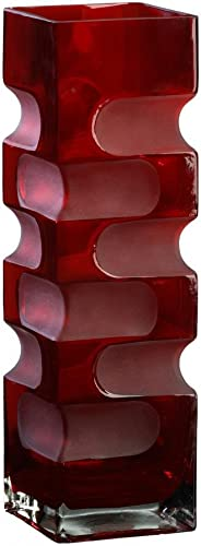 Cyan lighting 01824 15 Inch Large Vase, Red Finish