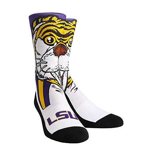Mike The Tiger Lsu - NCAA LSU Tigers Mike The Tiger University Custom Athletic Crew Socks, Large/X-Large, Yellow