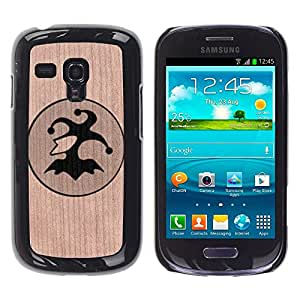 Funda Cubierta Madera de cereza Duro PC Teléfono Estuche / Hard Case for Samsung Galaxy S3 MINI 8190 / Phone Case TECELL Store / Loco Joker Poker Cards Juego Fool Joker Poker Cards Gambling