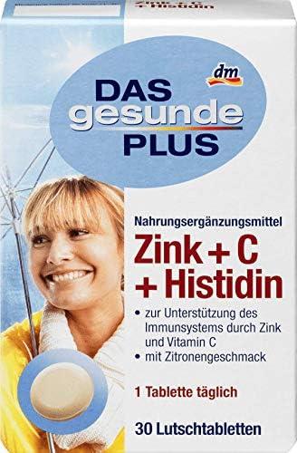 DAS gesunde PLUS Zink + C + Histidin Lutschtabletten, 1 x 30 St Nahrungsergänzungsmittel