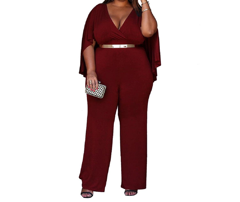 Evalent Women S Plus Size V Neck Attached Flowing Cape Cloak Top Big