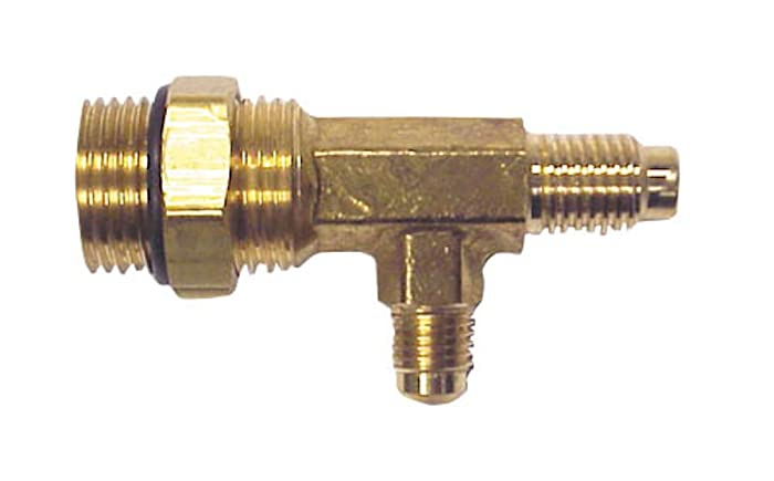 Robinair (15495) Combination Inlet Tee Fitting for R-12 and R-134A