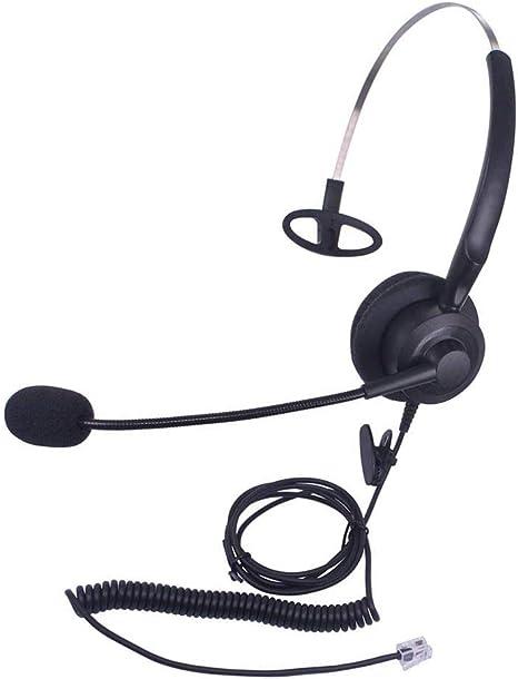Telefonia Callez Cuffie Telefono Fisso RJ9 Mono con ...