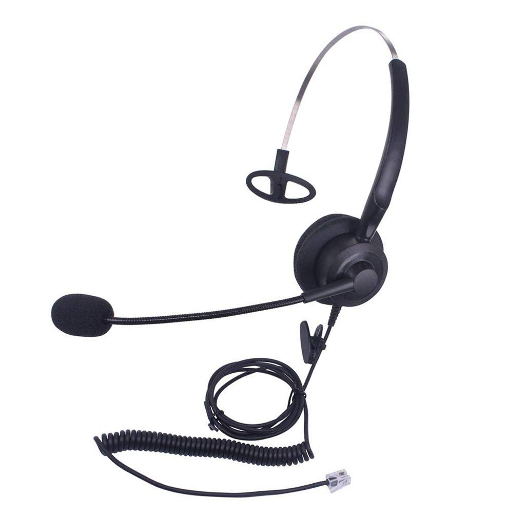 Callez C200A1 Corded Telephone Headset Monaural with Microphone for ShoreTel Plantronics Polycom Zultys Toshiba NEC Aspire Dterm Nortel Norstar Meridian Siemens ROLM Packet8 Landline Deskphones by Callez