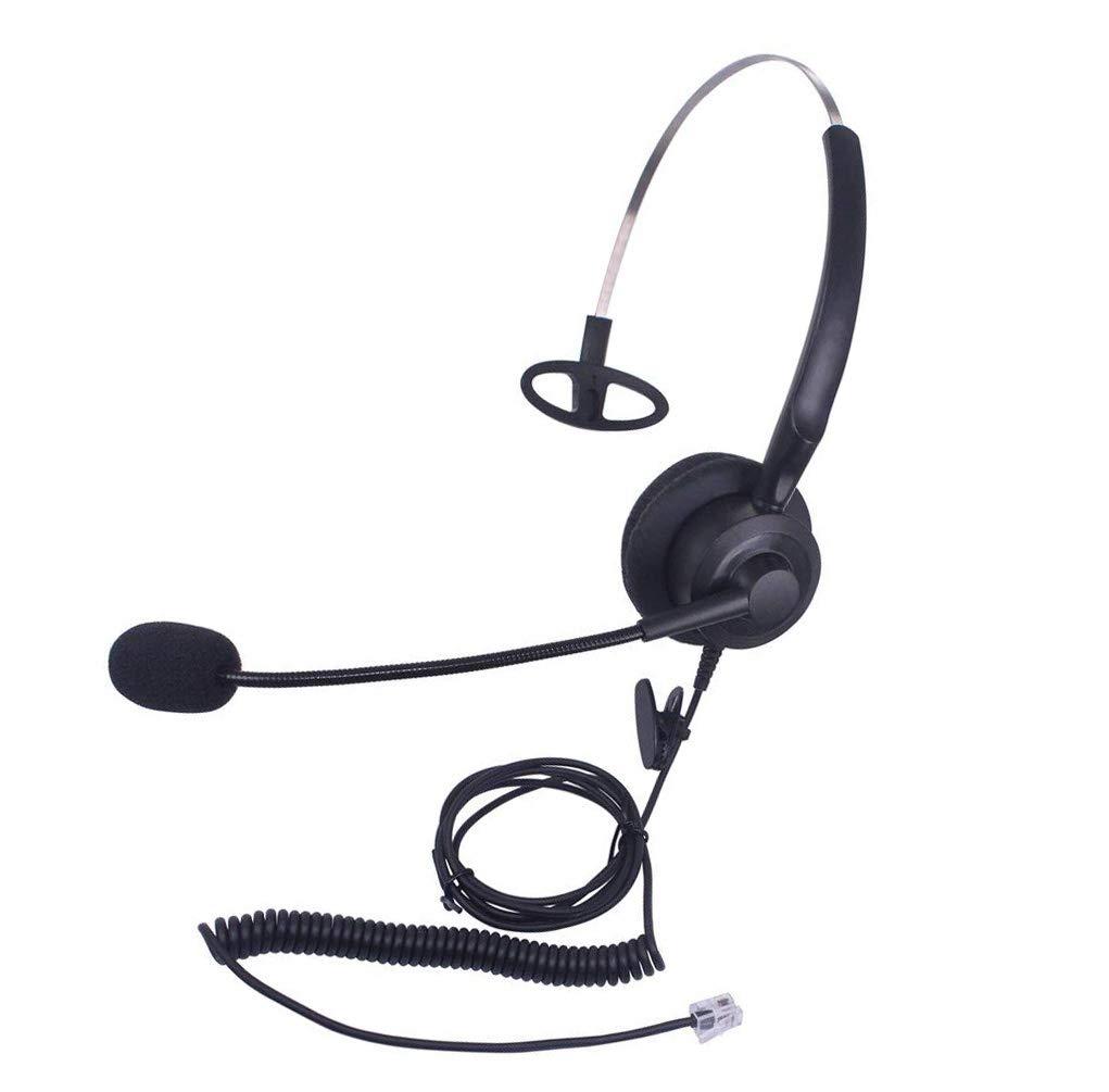 Callez C200A1 Corded Telephone Headset Monaural with Microphone for ShoreTel Plantronics Polycom Zultys Toshiba NEC Aspire Dterm Nortel Norstar Meridian Siemens ROLM Packet8 Landline Deskphones
