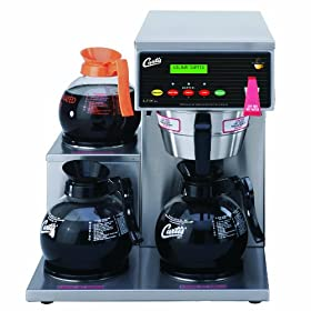Wilbur Curtis G3 Alpha Decanter Brewer 64 Oz Coffee Brewer, Dual Voltage, 3 Station 3 Lower Left Warmers – Commercial Coffee Brewer  – ALP3GTL63A000 (Each)