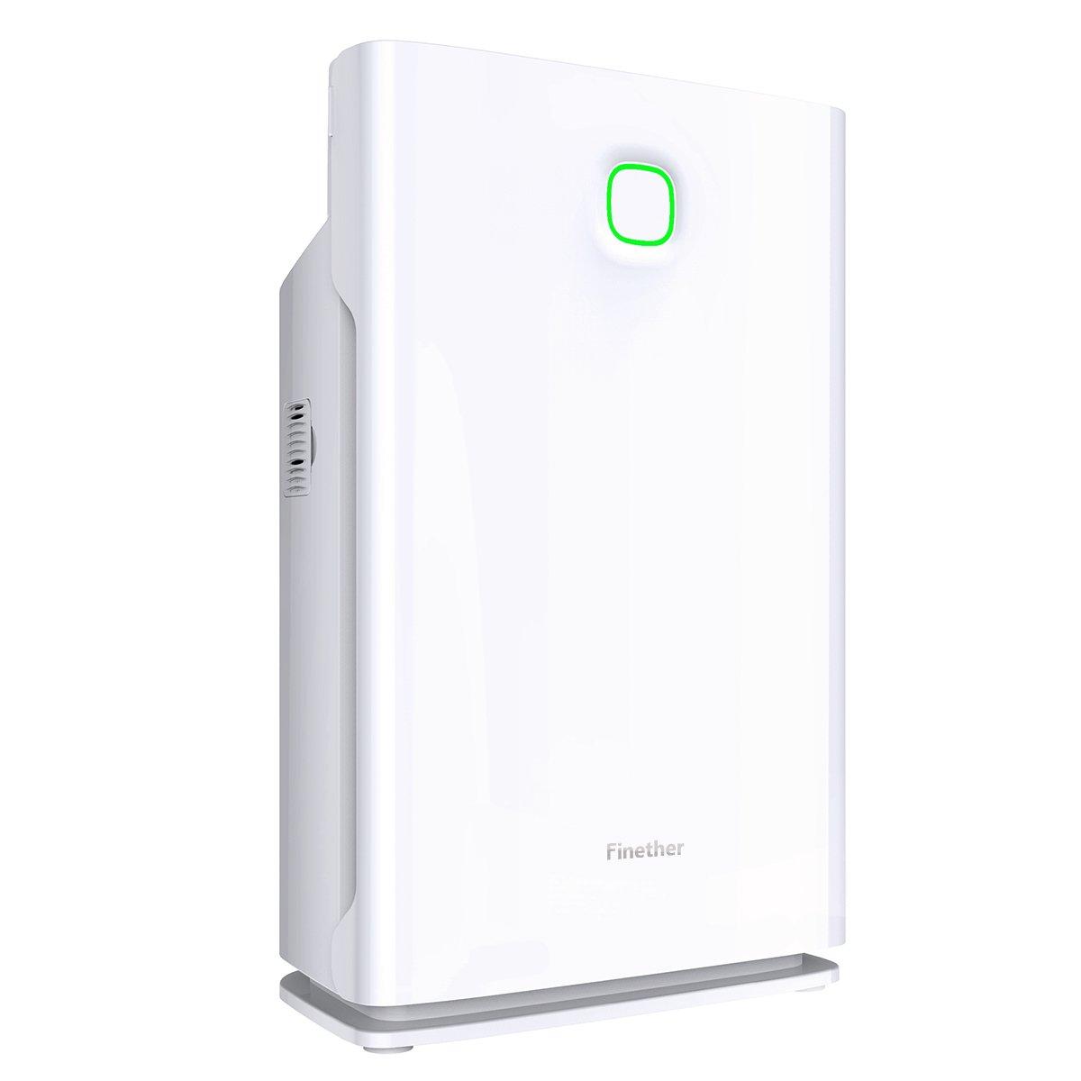 Finether - Purificador de Aire, Ionizador de Aire, hasta 45m², 340 m³/