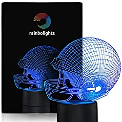 Football Helmet Night Light 7 Color LED Does Not Get Hot A Great Gift Idea for Boys or Dad. Perfect Sports Fan Gift By rainbolights
