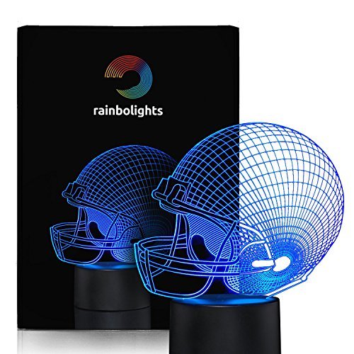 Football Helmet Night Light 7 Color LED Does Not Get Hot A Great Gift Idea for Boys or Dad Perfect Sports Fan Gift By rainbolights