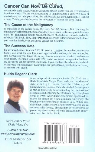 The Cure For All Advanced Cancers: Hulda Regehr Clark: 0884953436594:  Amazon.com: Books