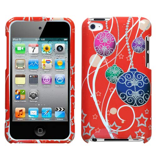 Xmas Ornaments(Sparkle) Phone Protector Faceplate Cover For APPLE iPod touch(4th generation)