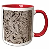 3dRose Danita Delimont - Cindy Hopkins - Sculptures - China, Beijing, Forbidden City. Emperors palace, marble dragon carving - 11oz Two-Tone Red Mug (mug_187563_5)