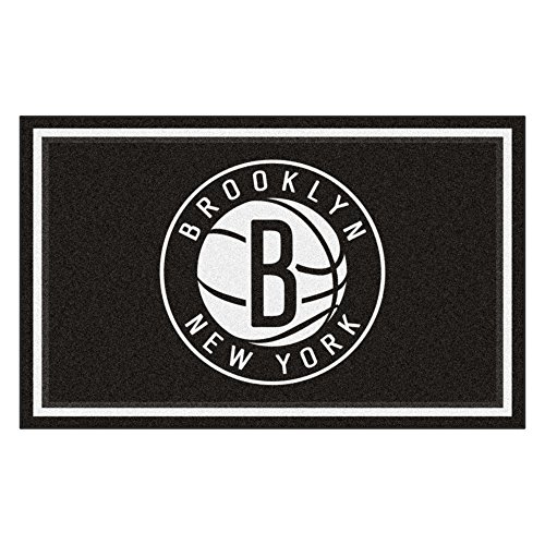 FANMATS 20420 44''x71'' Team Color NBA - Brooklyn Nets Rug by Fanmats