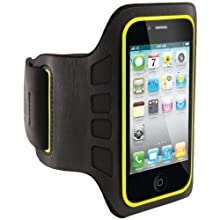 Belkin EaseFit Convertible Armband for Apple iPhone 4/4S (Black / Limelight)