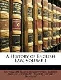 img - for A History of English Law, Volume 1 book / textbook / text book