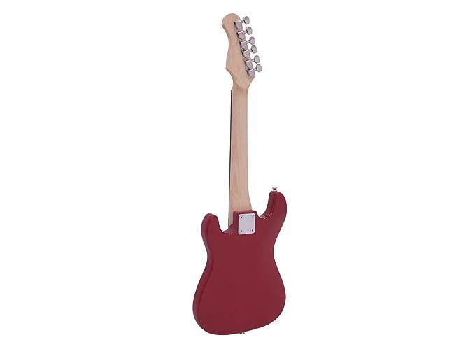 Set de 2 x Guitarra eléctrica para niños PATRON START con accesorios, rojo - Pack de guitarras eléctricas / Juego de guitarras eléctricas pequeñas ...