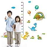 ufengke® Cartoon Dinosaur Rainbow Turtle Height Chart Decals(60cm-170cm), Children's Room Nursery Removable Wall Stickers Murals