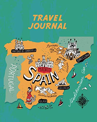 Travel Map Of Spain.Travel Journal Spain Map Kid S Travel Journal Simple Fun Holiday