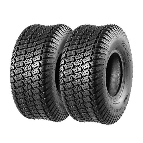 MaxAuto 15x6.00-6 15x6x6 15-6-6 Turf Tires Replacement for John Deere Tractor Riding Mover Lawn & Garden Tire, 4PR, Set of 2