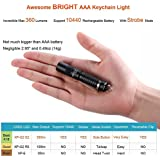 GranVela UltraTac K18 Cree 360 Lumen IPX-8 Waterproof Portable Mini AAA Keychain LED Flashlight