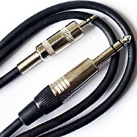 6m (20ft) 6.35mm to 3.5mm Stereo Jack Plug Cable - Pro Audio 1/4 Adapter Lead