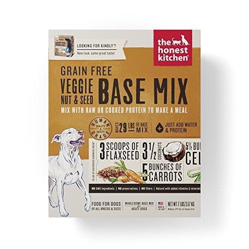 Honest Kitchen Grain Free Veggie Nut & Seed Base Mix Recipe for Dogs 7 lb Box - Kindly