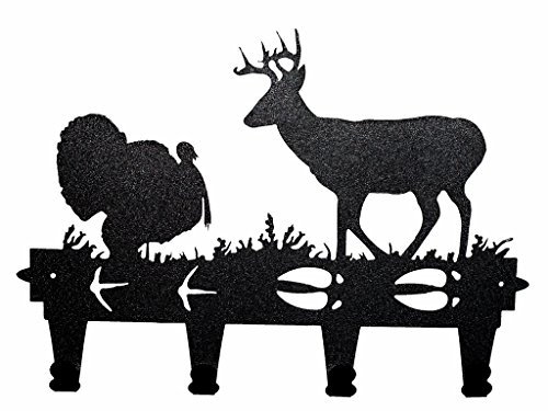 Decorative Wall Mounted Metal Turkey and Deer Coat and Ha...