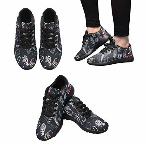 InterestPrint New York Doodle Print Womens Jogging Running Sneaker Lightweight Go Easy Walking Shoes Multi 1 bwyKK