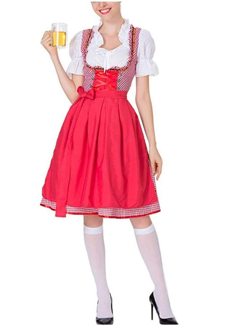 Women's German Dirndl Dress Costumes for Bavarian Oktoberfest Carnival Halloween Polyester