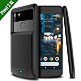 "Google Pixel 2 XL Battery Case, Newdery Pixel 2 XL 5200mAh Charger Case Backup Charging Case with LED Indicator, USB Type C Compatible Rechargeable Power Bank Cover for Pixel 2 XL (Black 6"")"