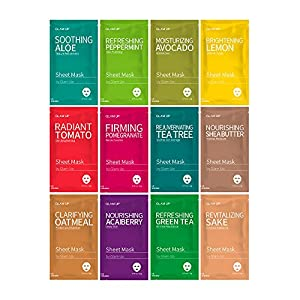 Sheet mask by Glam Up Facial Sheet Mask BTS Combo-The Ultimate Supreme Collection for Every Skin Condition Day to Day Skin Concerns. Nature made Freshly packed Original K-Beauty Recipe 12sheets