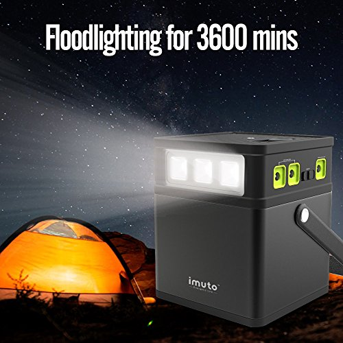 imuto 182Wh/50000mAh Portable Generator Power Source Station with 8-Port DC 5V/12V/19V Output, AC Power Inverter Optional (115V/100W), Power Supply for Laptop, Tablet, Smartphone, Outdoors and More