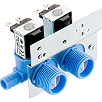 Maxdot 1 Piece 285805 Water Inlet Valve with Mounting Bracket for Clothes Washer 110 VAC/ 120 VAC, Works with Whirlpool, Maytag, Alliance, GE, Kenmore, Amana, Admiral and More