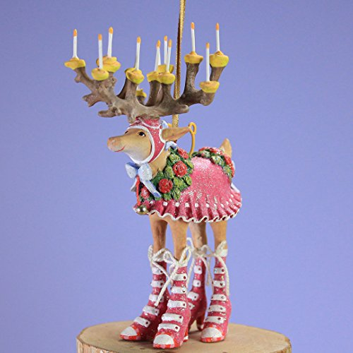 (Patience Brewster Mini Dashaway Donna Reindeer Ornament Christmas Holiday Tree Decoration )