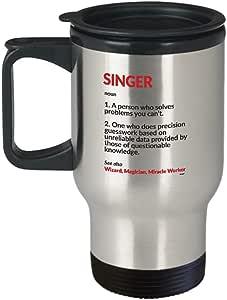 Amazon.com: Singer Travel Mug - Funny Gifts Definition ...