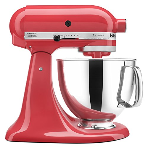 (KitchenAid KSM150PSWM Artisan Series 5-Qt. Stand Mixer with Pouring Shield - Watermelon)