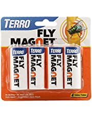 Terro T510 Fly Magnet Sticky Fly Paper Trap - 4 Pack, White