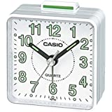 Casio TQ140-7 Beep Alarm Clock, White