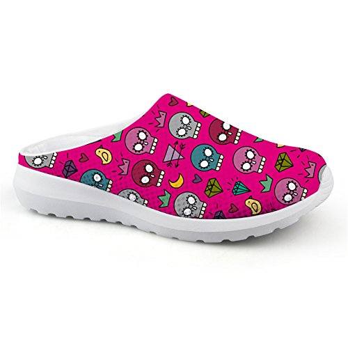 Bigcardesigns Lovely Skull Style Ladies Slip-ons Daily Lazy Sneakers Shoes Purple SUG1yyN