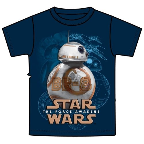 Star Wars BB-8 Droid Tee Boys Youth T Shirt Navy ()