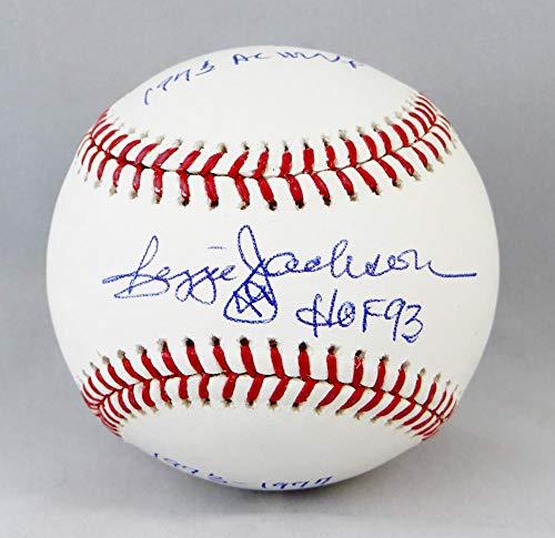 Reggie Jackson Autographed Rawlings OML Baseball W/HOF/AL MVP/WS MVP- JSA W Authenticated