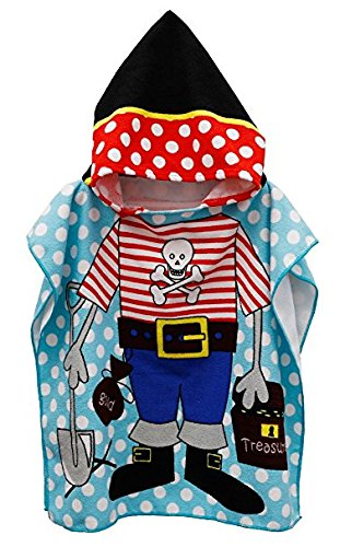 Polly House Children Hooded Beach Towel, Shower Bath Robes, Swim Coverup, Water Activities Towel for Boy/Girls, Soft and Strong Absorbent (06) -