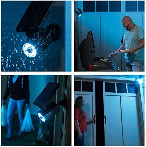 Bell+Howell Bionic Spotlight Deluxe LED Solar Lights Solar-Powered Spot Light with 25 Feet Motion Sensor Outdoor Waterproof Frost Resistant Yard Outdoor Lighting As Seen On TV Set of 6