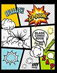 This Blank Comic Book for Kids is the only book they need if kids love to create comics....              This book helps you to make your own comics and with over 180 reviews, we know that kids love making their own cartoons a...